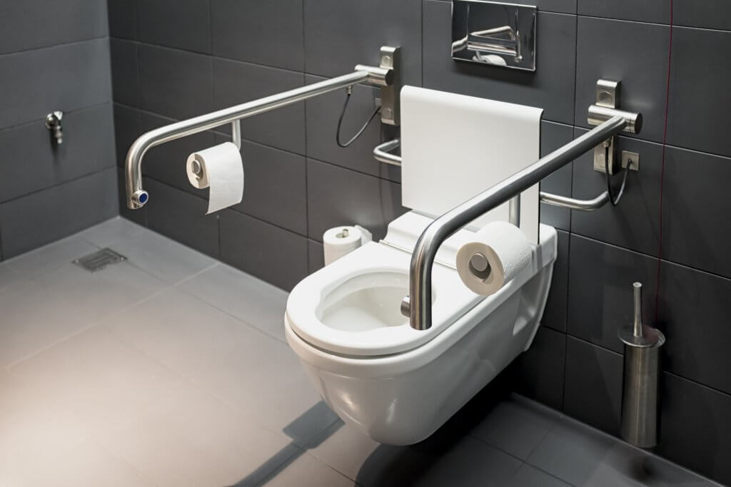 Modern bathroom for disabled people