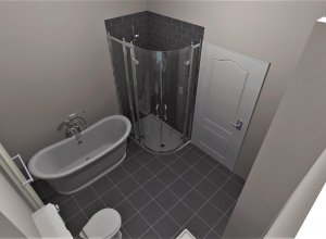 What is CAD used for when it comes to bathroom design?
